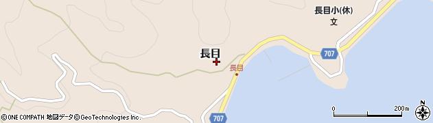 大分県津久見市長目1508周辺の地図