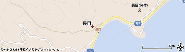大分県津久見市長目1507周辺の地図