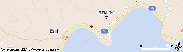 大分県津久見市長目1439周辺の地図