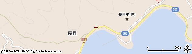 大分県津久見市長目1423周辺の地図