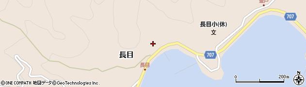 大分県津久見市長目1499周辺の地図