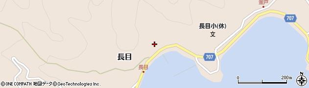 大分県津久見市長目1421周辺の地図