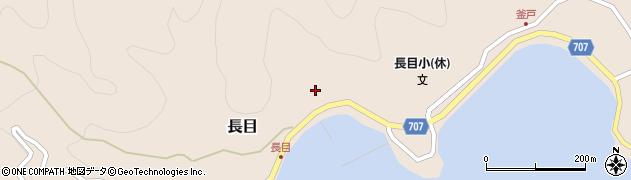 大分県津久見市長目1424周辺の地図