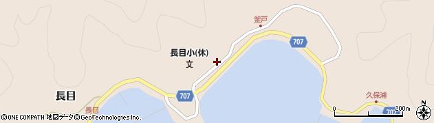大分県津久見市長目1699周辺の地図
