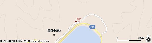 大分県津久見市長目1841周辺の地図