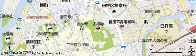 多福寺周辺の地図