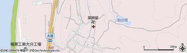 大分県大分市上戸次(大塔)周辺の地図