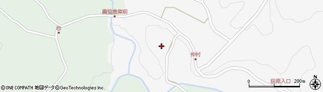 大分県竹田市直入町大字下田北仲村周辺の地図