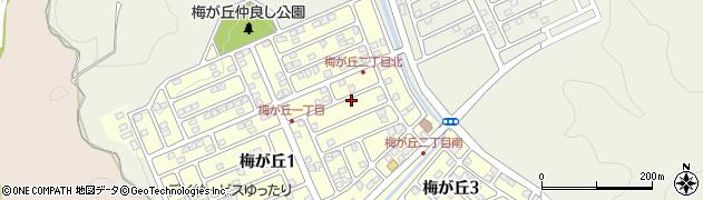 大分県大分市梅ケ丘周辺の地図