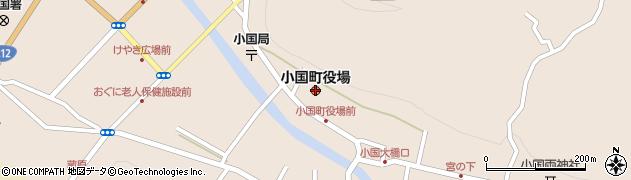熊本県小国町(阿蘇郡)周辺の地図