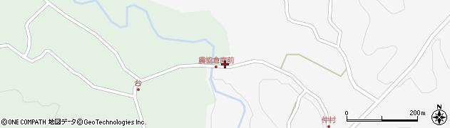 大分県竹田市直入町大字下田北105周辺の地図