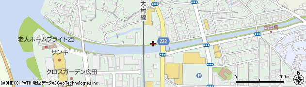 長崎県佐世保市広田周辺の地図