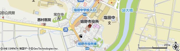 佐賀県嬉野市周辺の地図