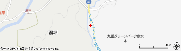 大分県玖珠郡九重町田野199周辺の地図