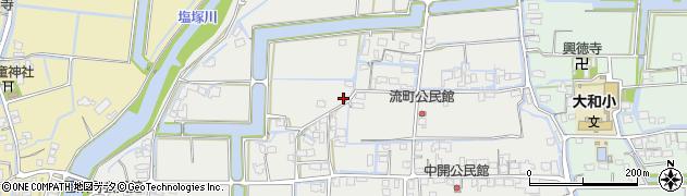 福岡県柳川市大和町明野周辺の地図