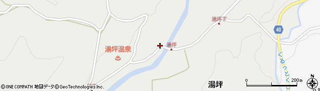 大分県玖珠郡九重町湯坪1051周辺の地図