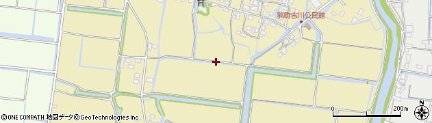福岡県柳川市佃町周辺の地図