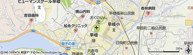 早岐神社周辺の地図