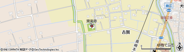 東楽寺周辺の地図