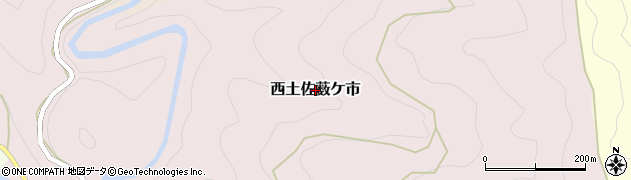 高知県四万十市西土佐薮ケ市周辺の地図