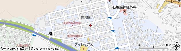 長崎県佐世保市卸本町周辺の地図