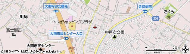 大分県大分市中戸次(戸次本町)周辺の地図