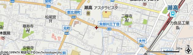 川原理容店周辺の地図