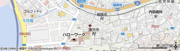 長崎県佐世保市稲荷町周辺の地図