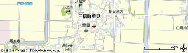 福岡県柳川市三橋町垂見周辺の地図