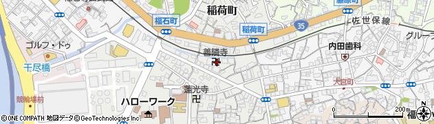 善隣寺周辺の地図