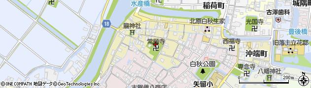 福岡県柳川市矢留町周辺の地図