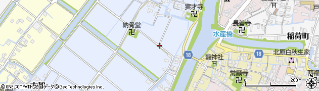 福岡県柳川市古賀周辺の地図