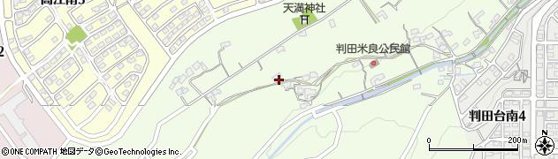 大分県大分市上判田(米良)周辺の地図