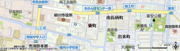 福岡県柳川市袋町周辺の地図
