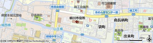 福岡県柳川市周辺の地図
