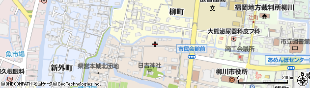 福岡県柳川市坂本町周辺の地図