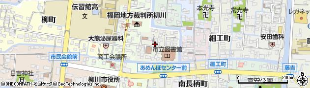 福岡県柳川市一新町周辺の地図