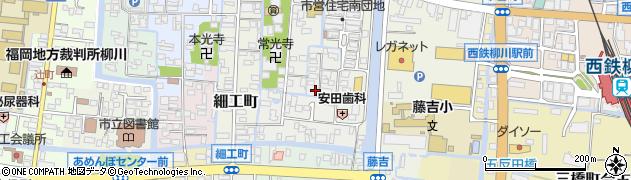 福岡県柳川市椿原町周辺の地図