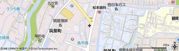 福岡県柳川市筑紫町周辺の地図