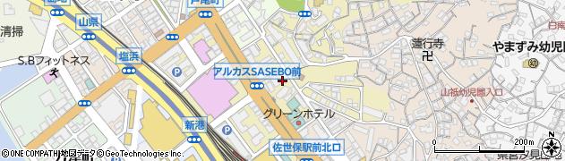 長崎県佐世保市三浦町周辺の地図