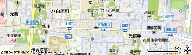 福岡県柳川市京町周辺の地図