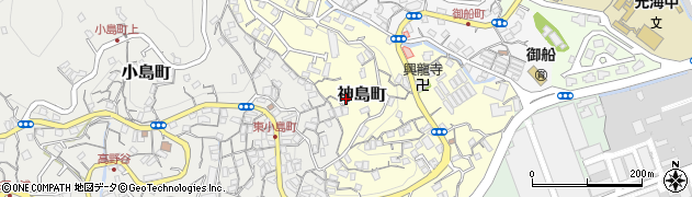 長崎県佐世保市神島町周辺の地図