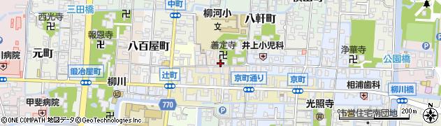 福岡県柳川市恵美須町周辺の地図