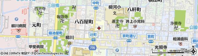 福岡県柳川市辻町周辺の地図