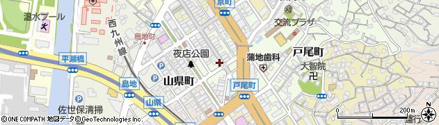 長崎県佐世保市下京町周辺の地図