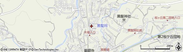 長崎県佐世保市黒髪町周辺の地図
