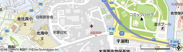 長崎県佐世保市平瀬町周辺の地図