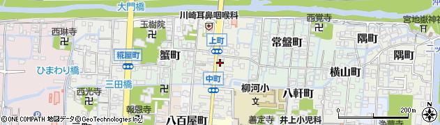 福岡県柳川市上町周辺の地図
