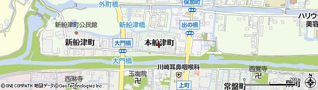 福岡県柳川市本船津町周辺の地図