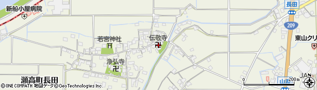 伝敬寺周辺の地図